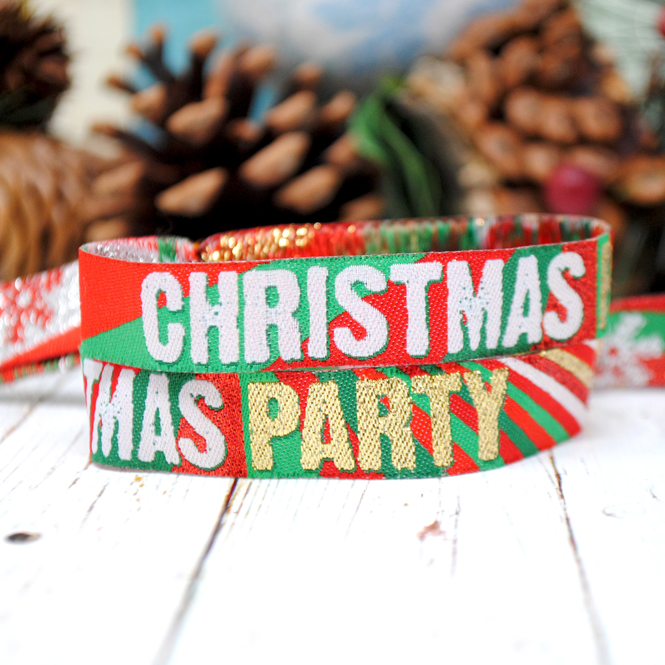 christmas party wristbands