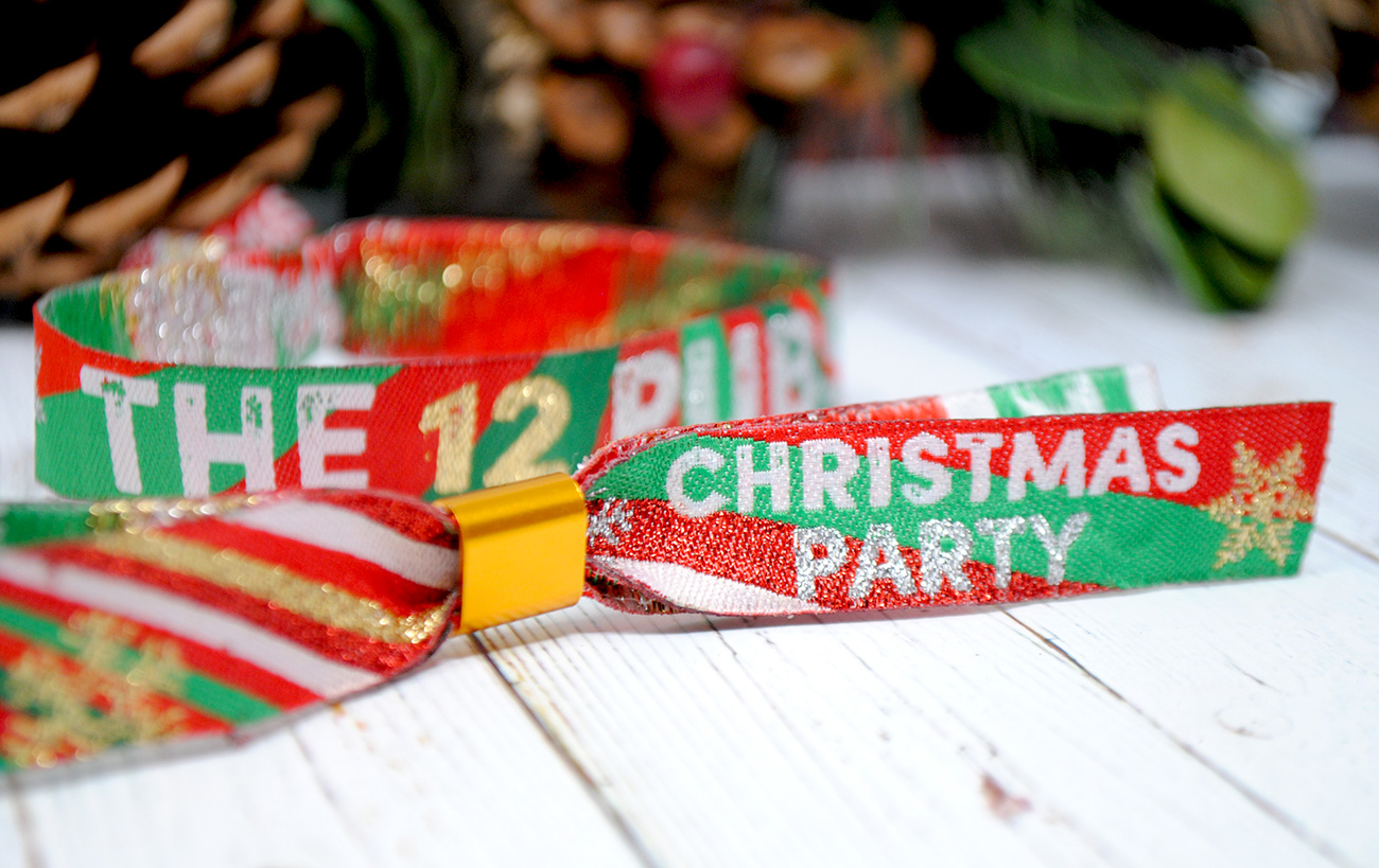 christmas pub crawl wristbands