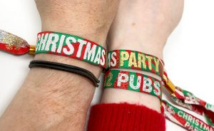 christmas work party favour wristbands