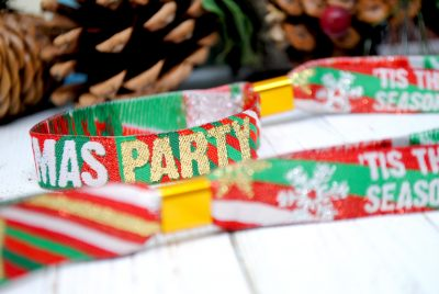 christmas xmas themed party wristband favours
