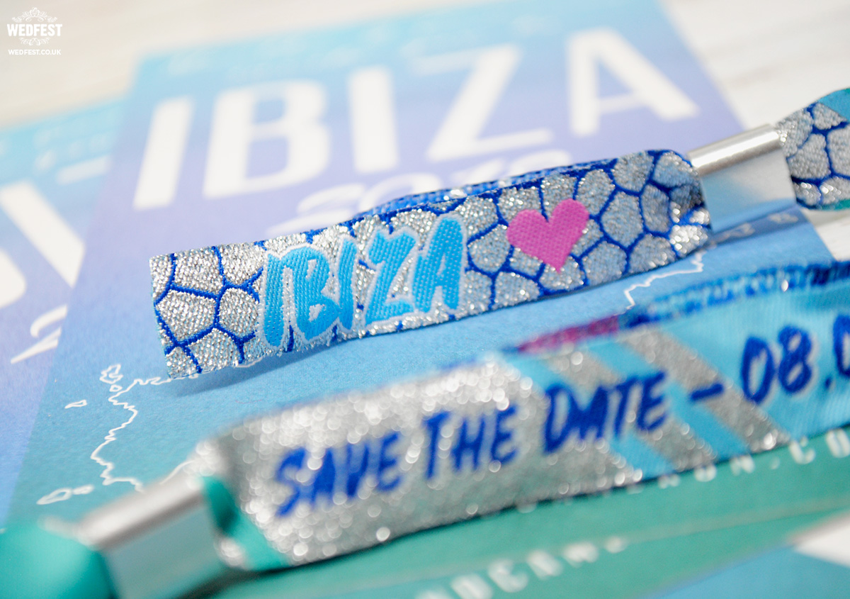 ibiza wedding favours invites wristbands