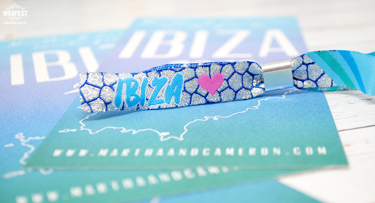 ibiza wedding invitation wristbands