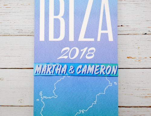 Ibiza Wedding Save The Date Cards & Wristbands