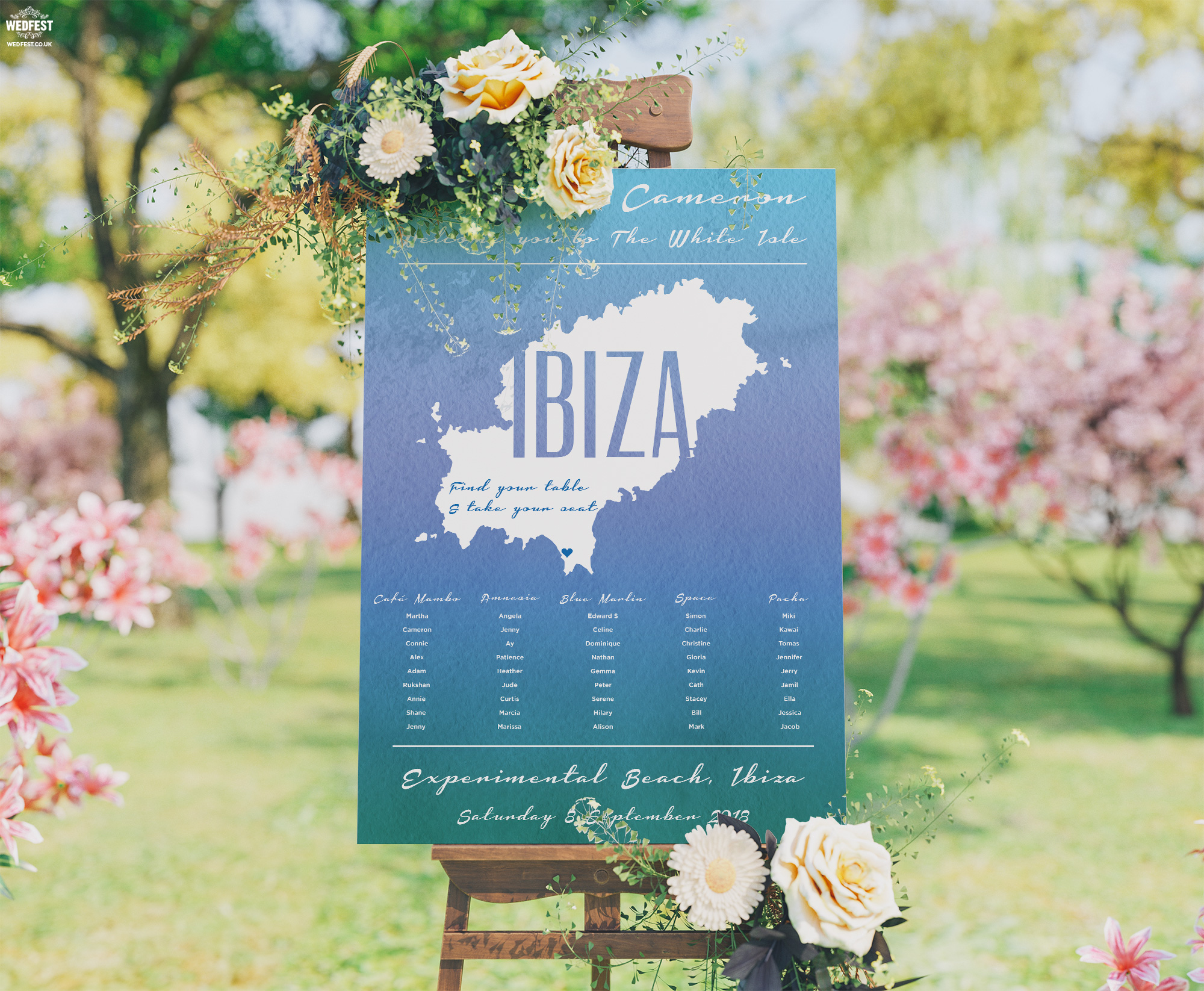 ibiza wedding table plan wedfest