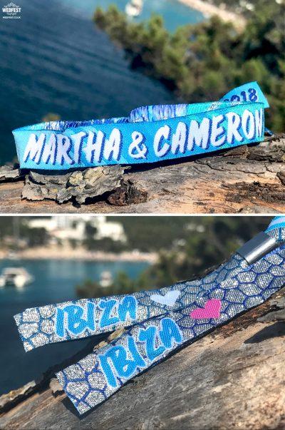 ibiza wedding wristbands