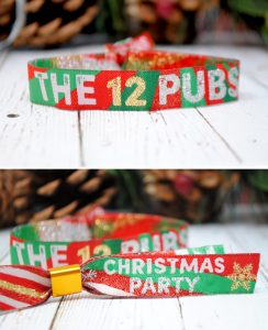 the 12 pubs christmas party pub crawl wristbands
