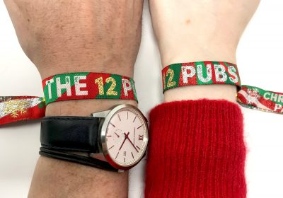 the 12 pubs of christmas pub crawl wristbands accessories