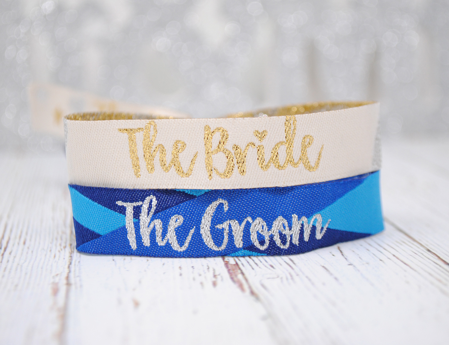 the bride and the groom wedding hen stag party wristbands