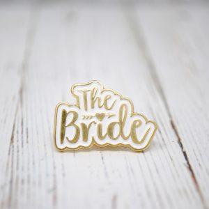 the bride wedding hen party enamel pin badge