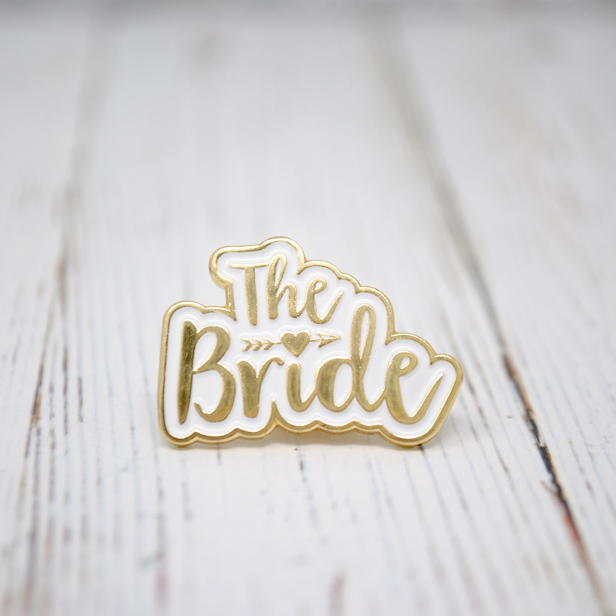 the bride wedding hen party enamel pin badge