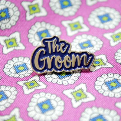 the groom wedding enamel lapel pin badge