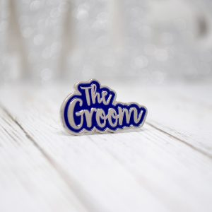 the groom wedding stag party enamel pin badge