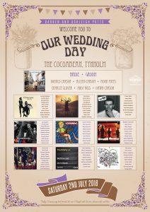 vintage festival chic music wedding seating table plan