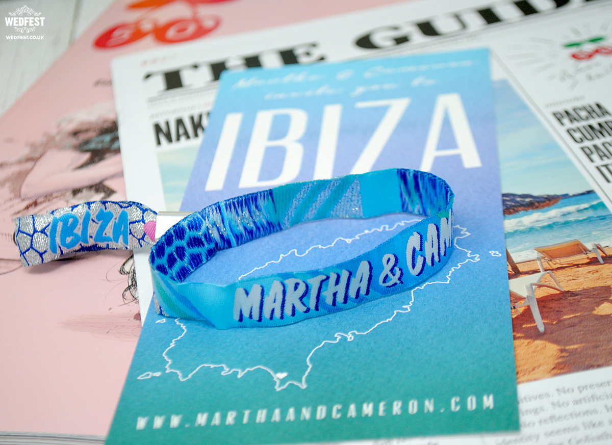 wedding save the date wristbands ibiza brides