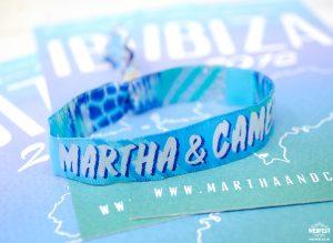 Ibiza save the date wristbands