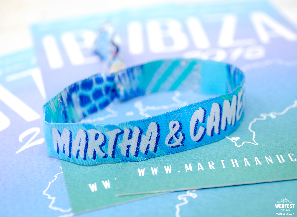 Ibiza save the date wristbands