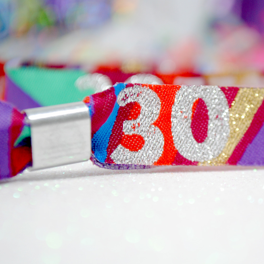 woven fabric festival party wristbands
