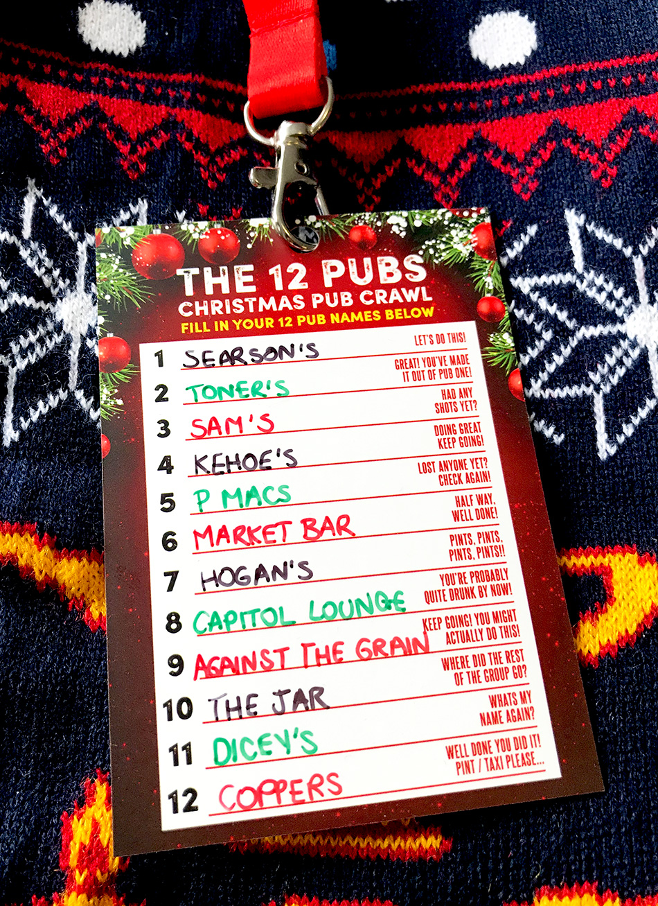 12 pubs christmas dublin pub crawl route