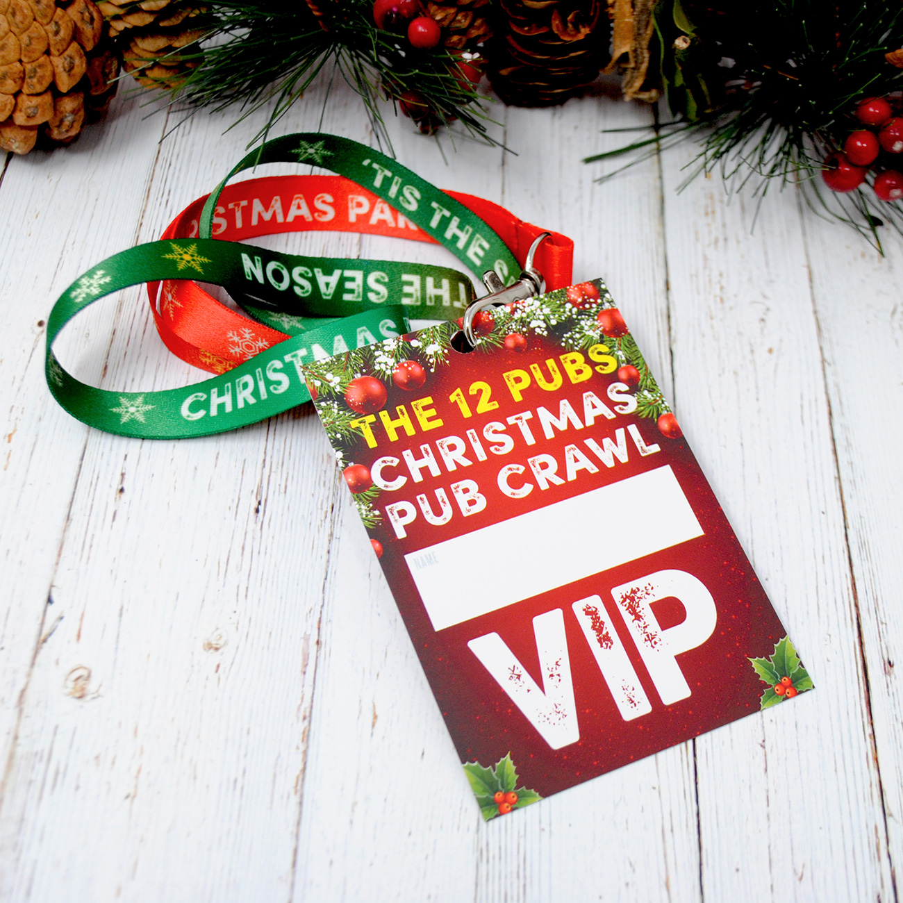 12 pubs christmas pub crawl lanyard guides
