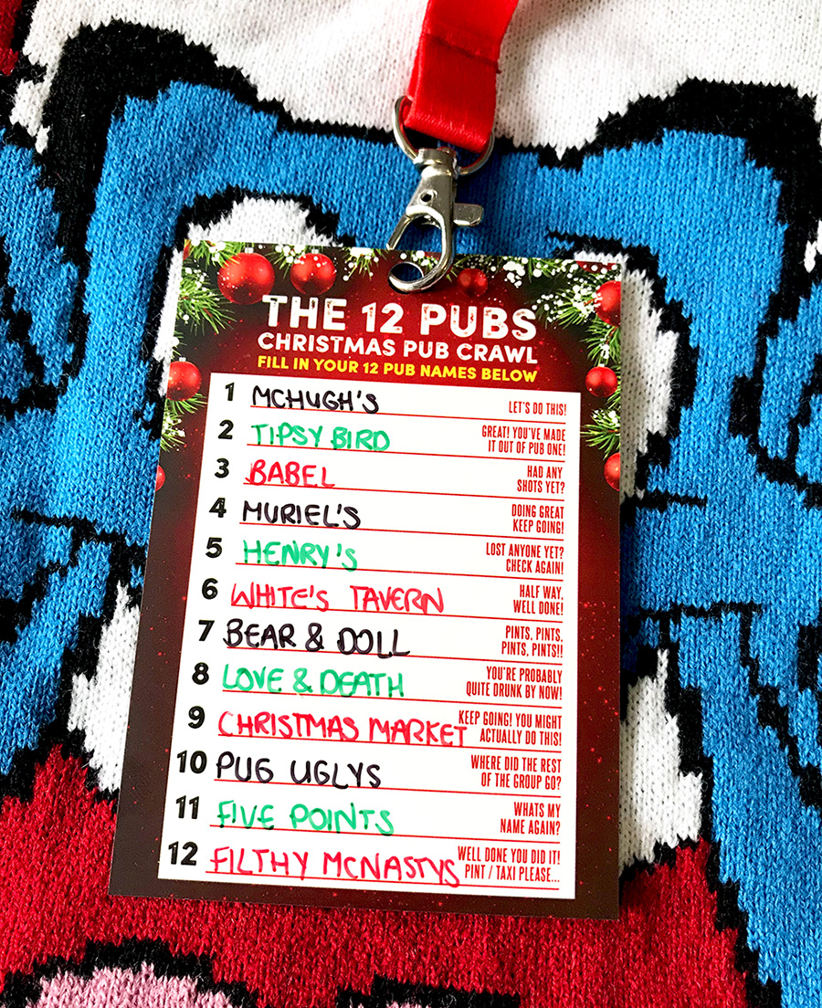 12 pubs of christmas belfast pub crawl route
