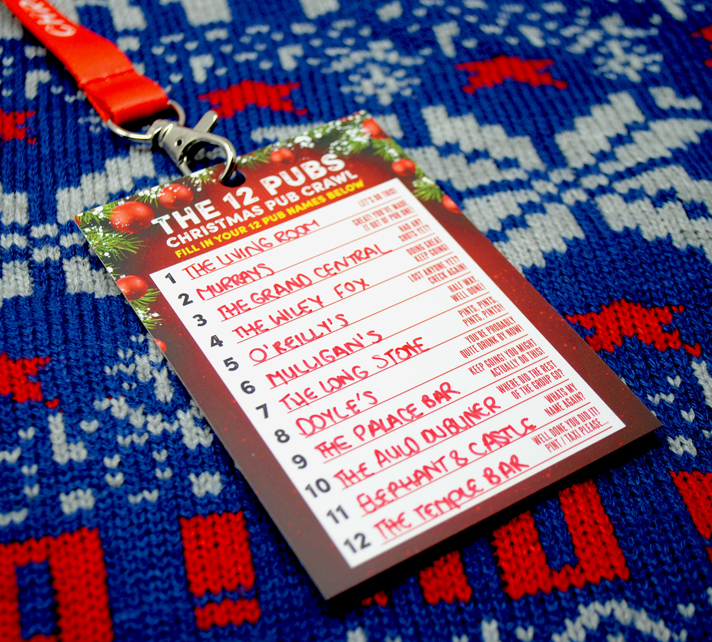 12 pubs of christmas dublin vip guide lanyard
