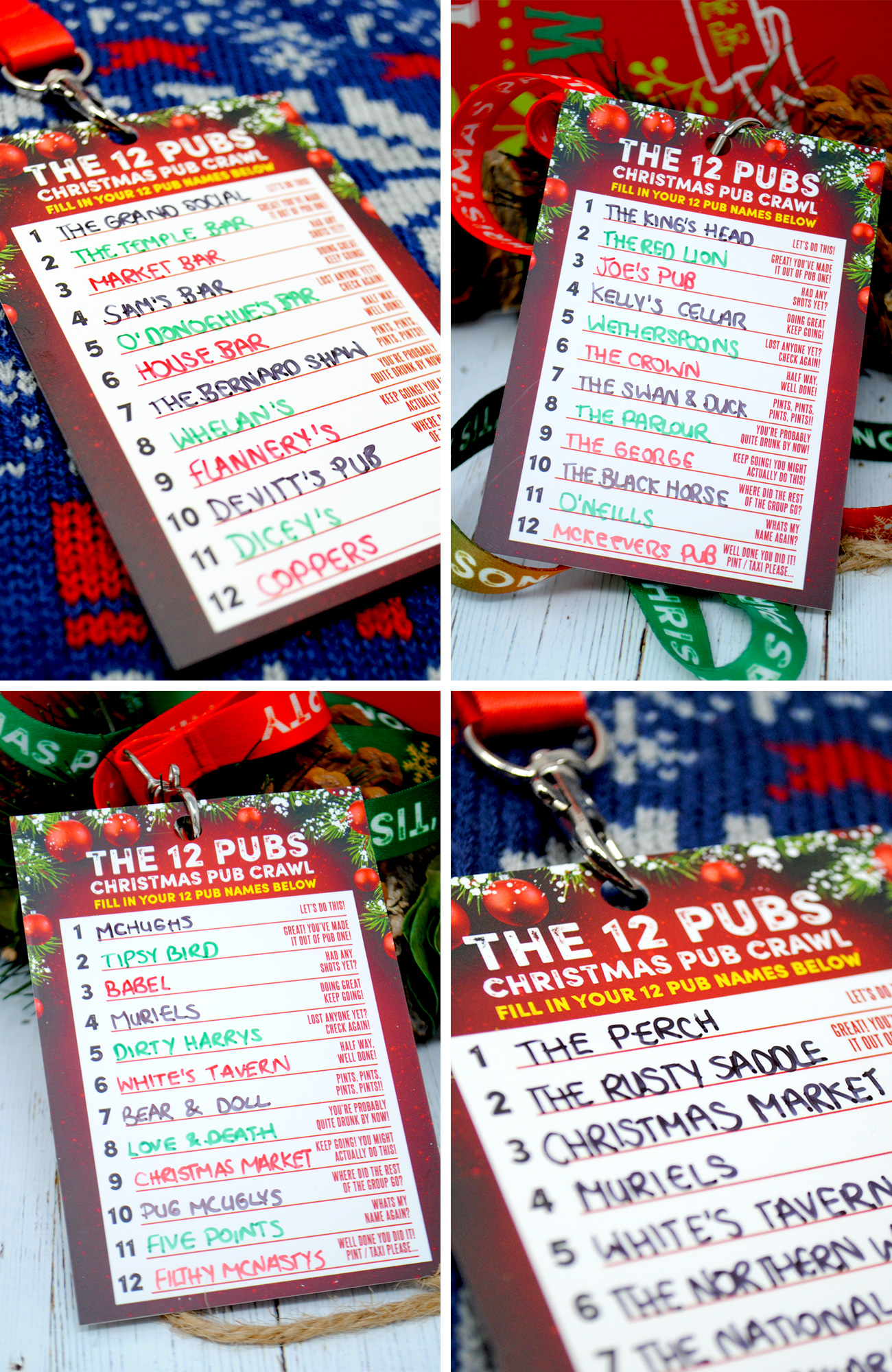 12 pubs of christmas pub list route guide