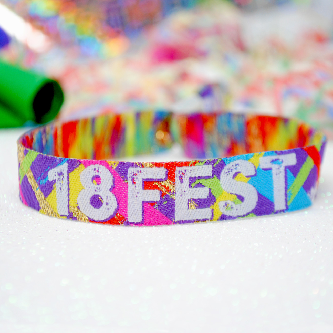 18FEST 18th birthday party wristbands