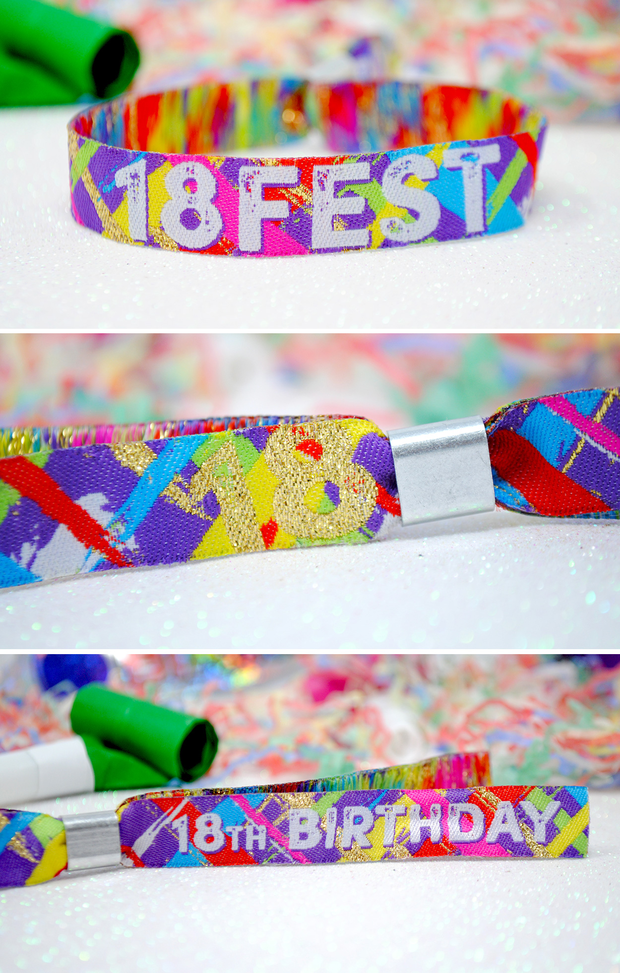 18th birthday festival party favour wristbands
