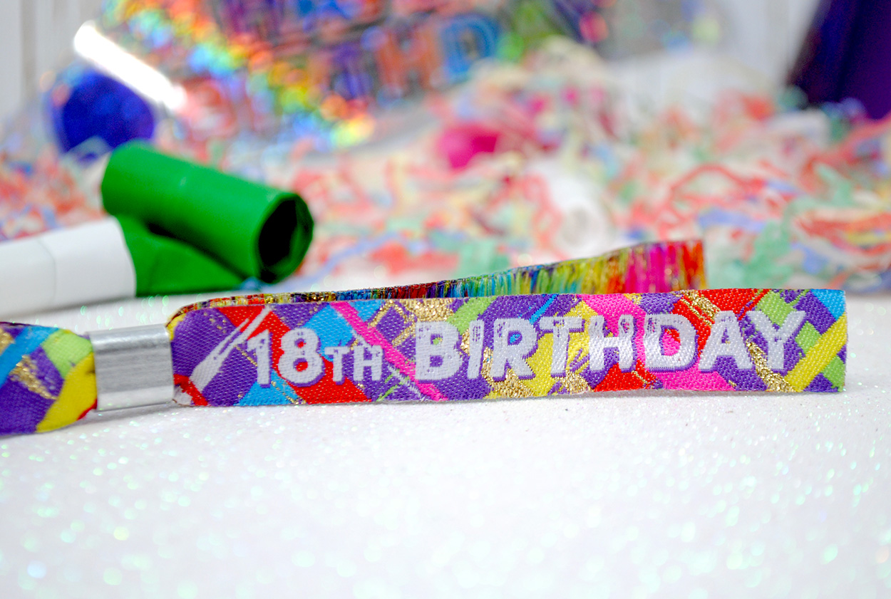 18th birthday party wristbands 18fest