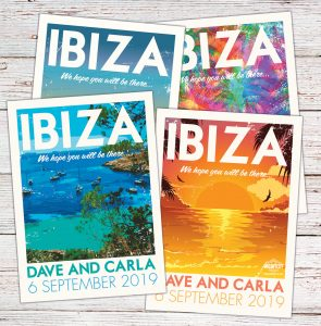 Ibiza Vintage posters postcards Wedding Invitation