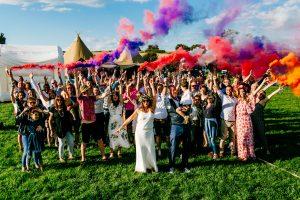 epic festival wedding