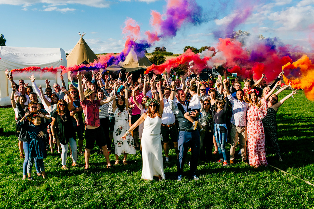 epic festival wedding