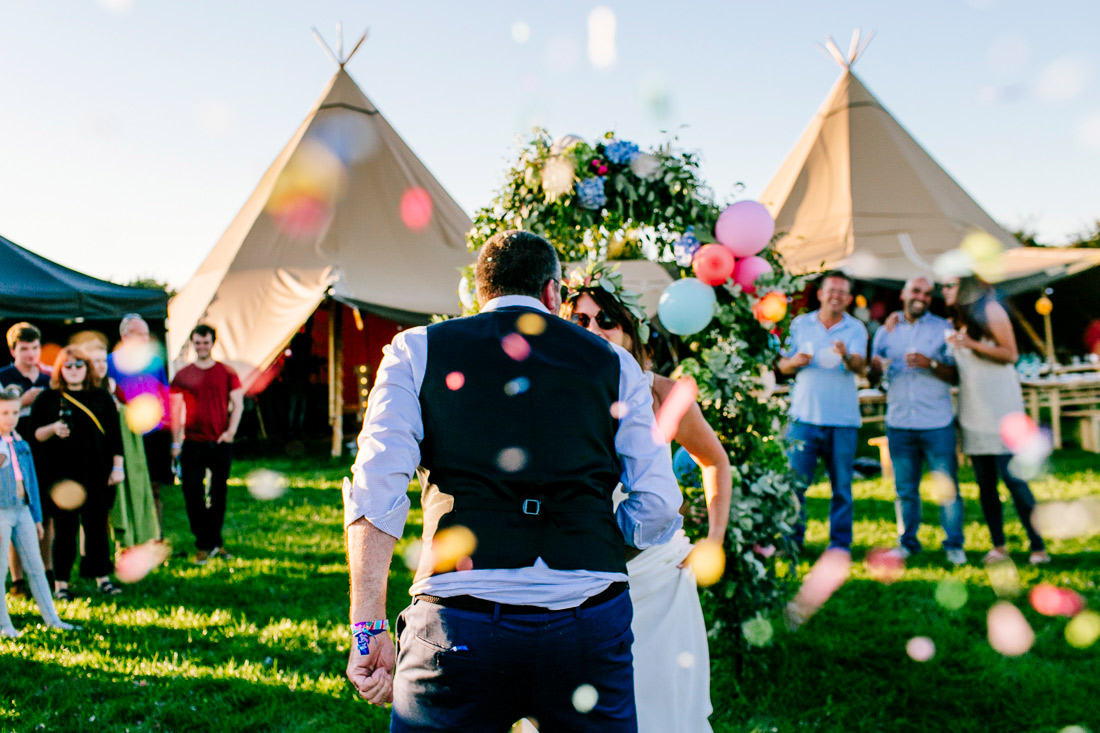 epic tipi festival wedding wristbands