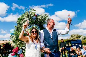 festival bride and groom wedding wristbands