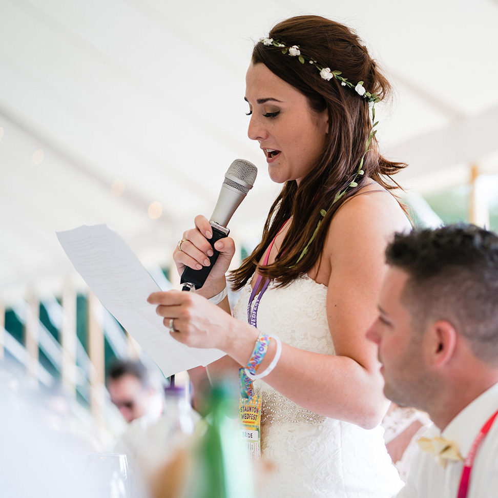 festival brides wedding speech