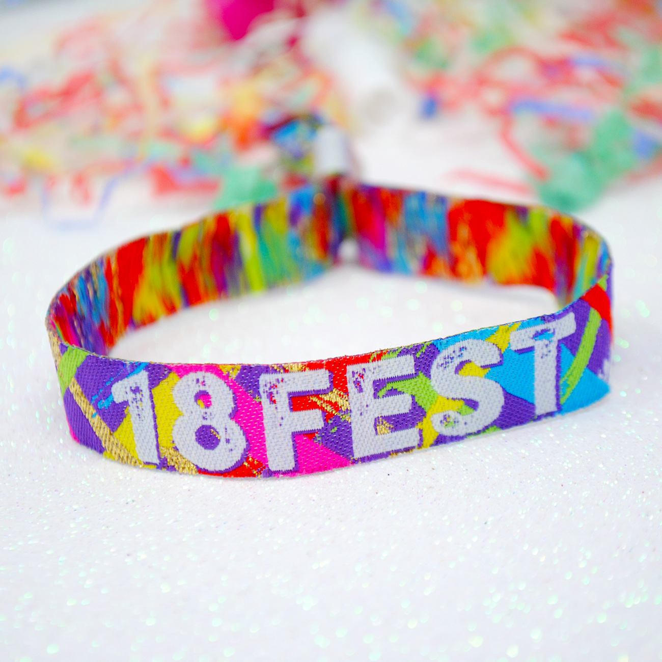 festival themed 18th birthday party wristband