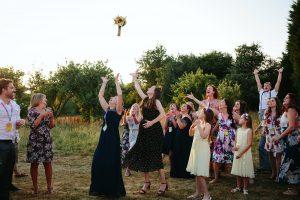festival wedding bouquet throw
