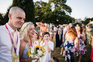 festival wedding bridesmaid flowers vip lanyards