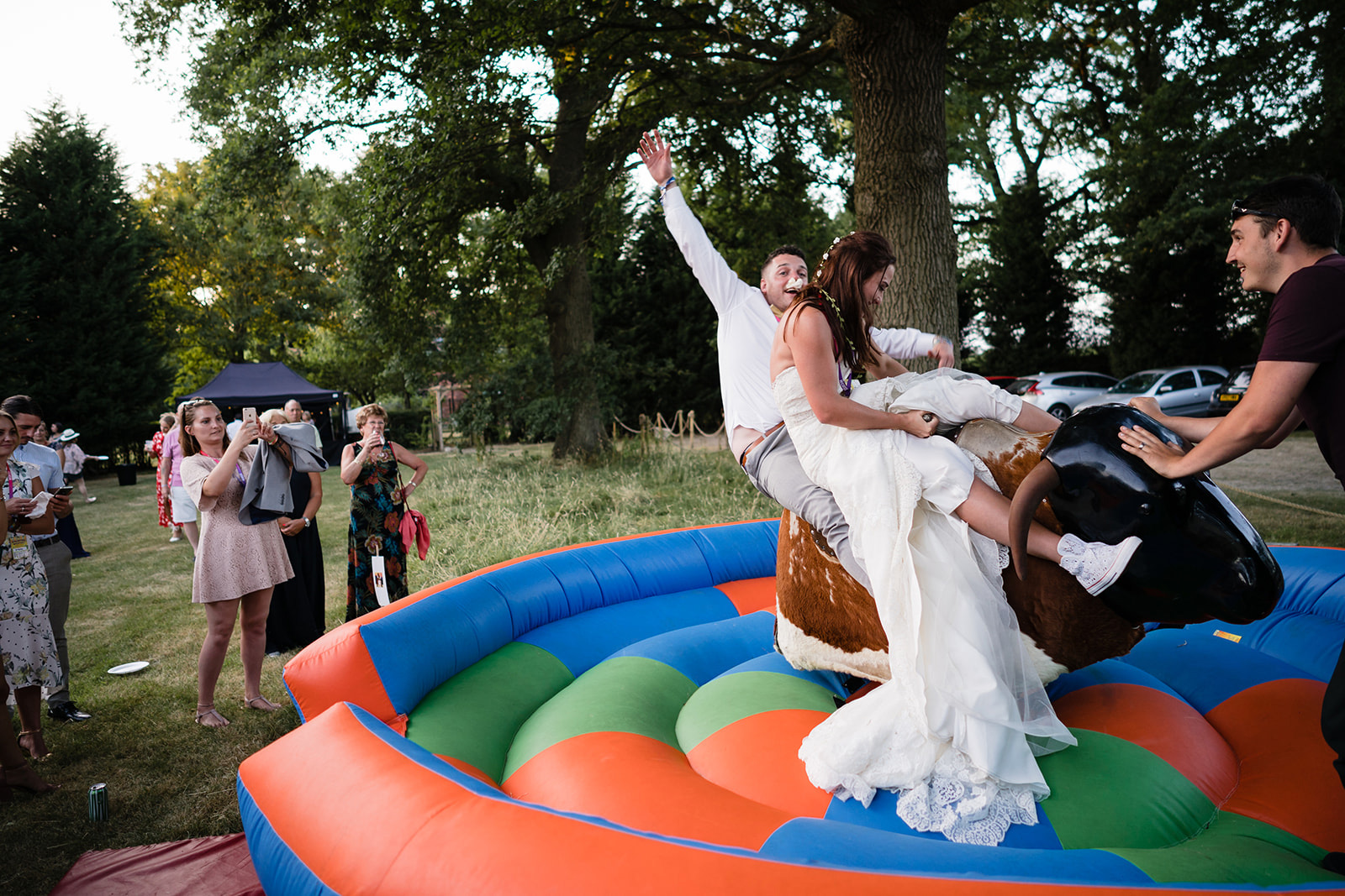 festival wedding bucking bronco