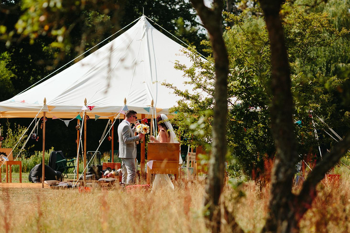 festival wedding tent