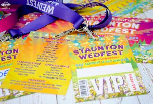 festival wedding vip pass line up favours