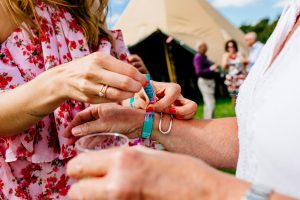 festival wedding wristband wedding favours
