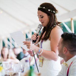 festival weddings bride speech wristbands lanyards wedfest