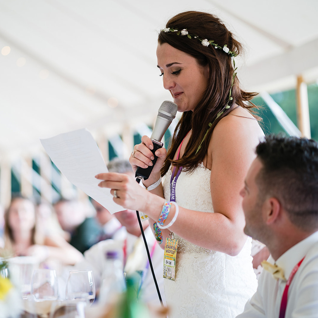 festival weddings bride speech wristbands lanyards wedfest