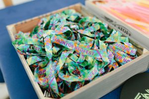 festival weddings custom woven fabric wristbands wedfest