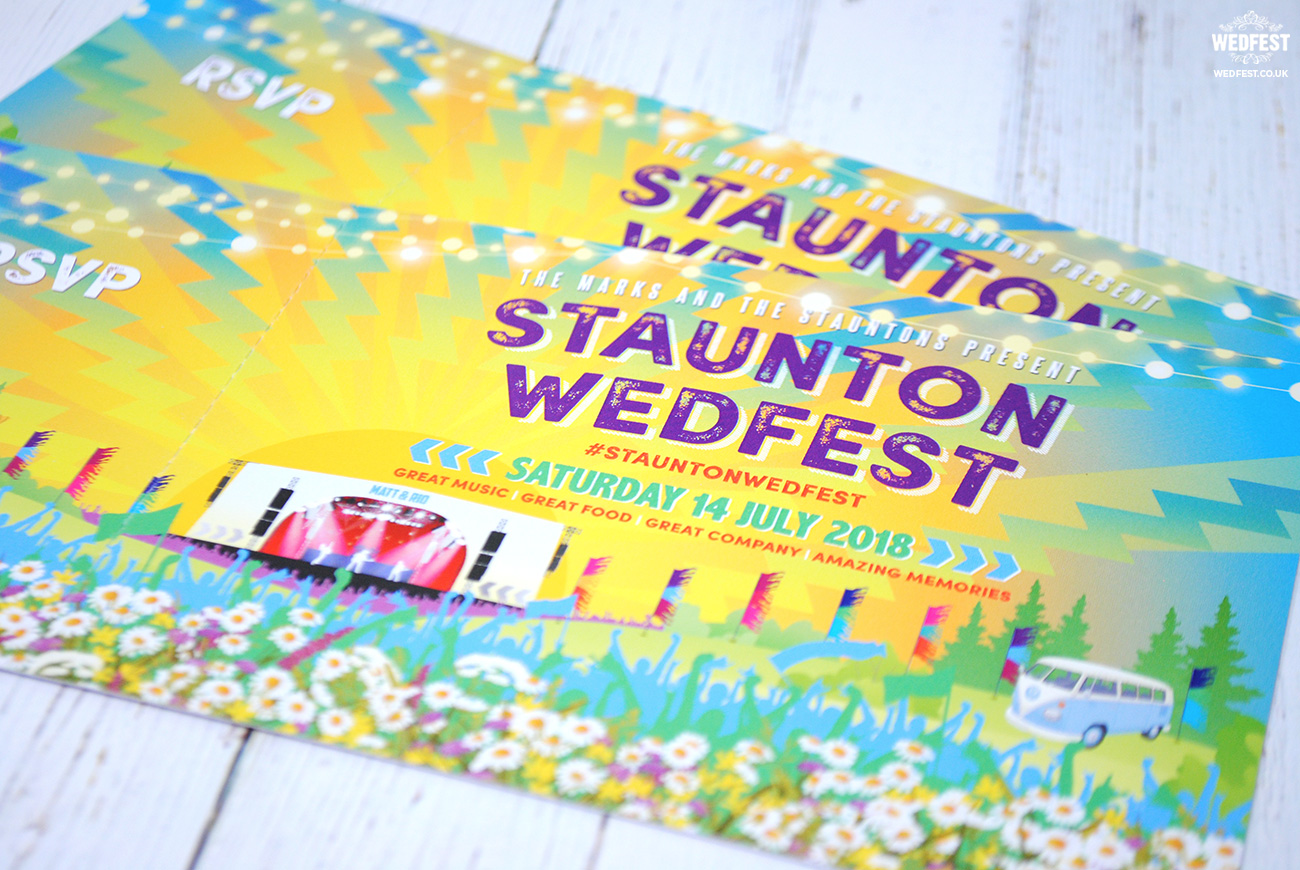 festival weddings invitations