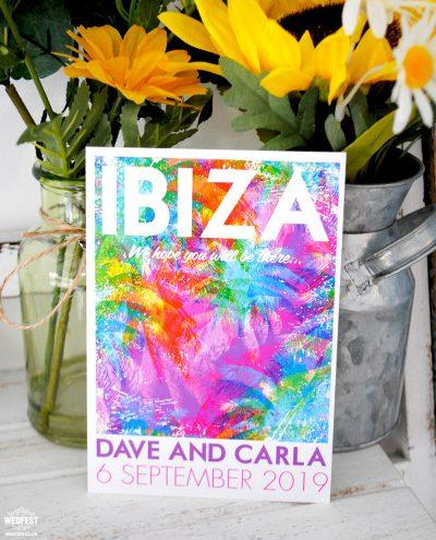 ibiza nightlife travel poster flyer wedding invitations