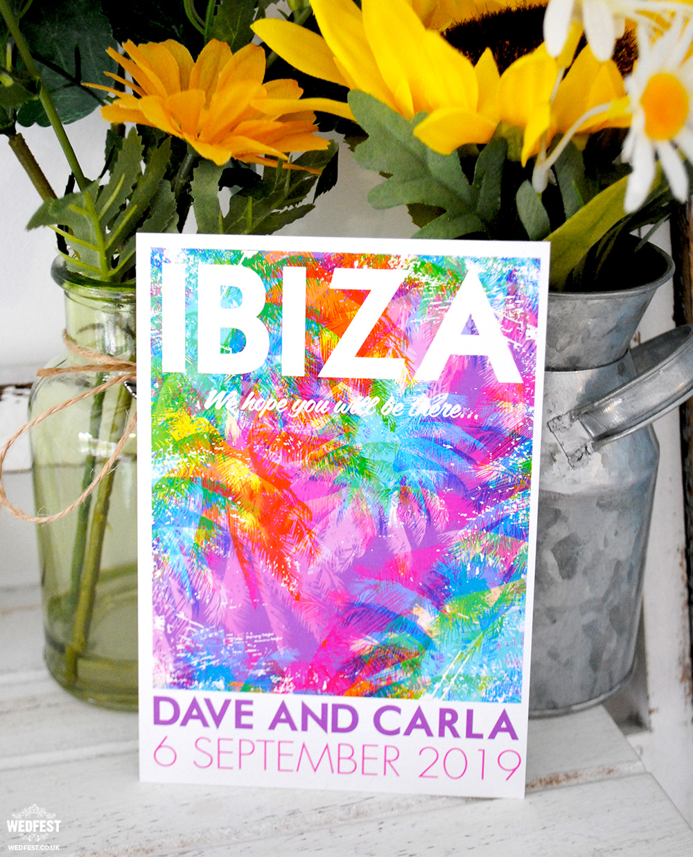 ibiza nightlife travel poster flyer wedding invitations