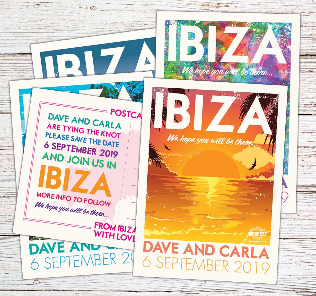 ibiza vintage poster postcard invites