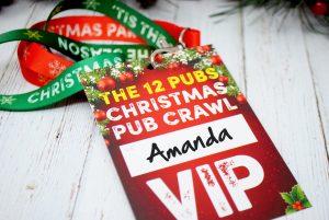 office christmas party pub crawl lanyards